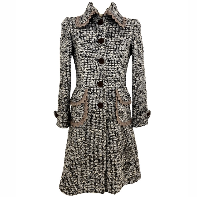 Dolce & Gabbana cappotto boucle' lana, 42